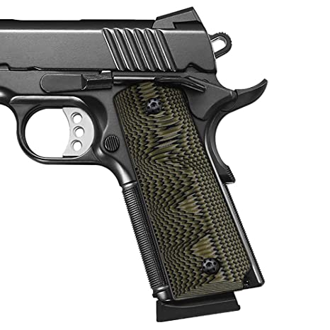 Cool Hand 1911 Full Size G10 Grips, Screws Included, for Left and Right  Handed, Ambi Safety Cut
