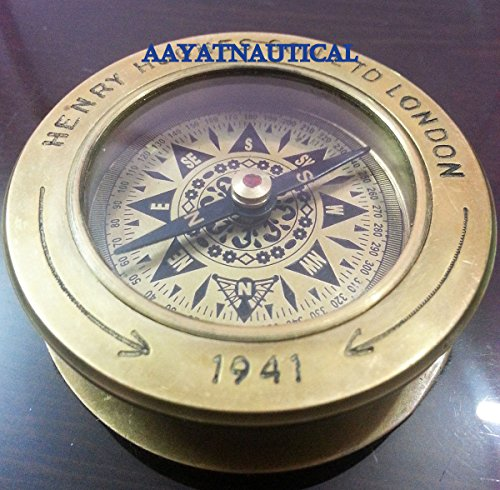 - Brass Collectible Antique Compass