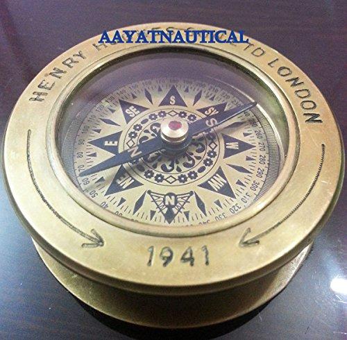 Hughes Antique - Brass Collectible Antique Compass