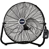 Lasko 2264QM 20-Inch Max Performance High Velocity Floor/Wall mount Fan, Black (3, Black)