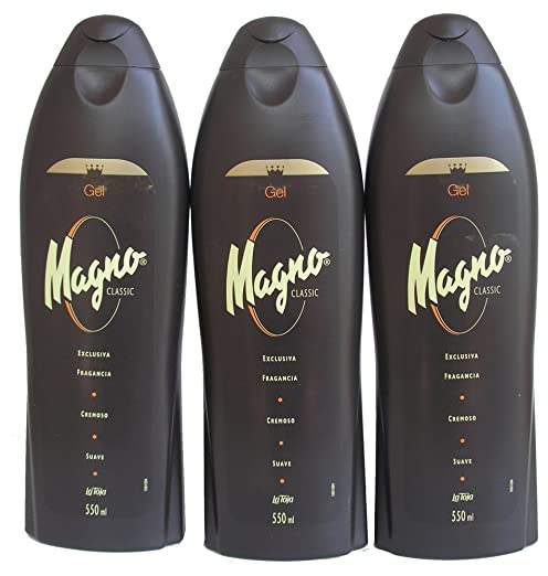 3 Bottles of Magno Shower Gel 18.3oz./550ml