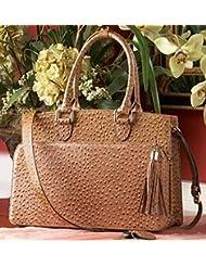 Concealed Carrie Ostrich Handbag