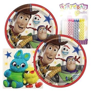 Amazon.com: Toy Story - Paquete de 4 temáticas para fiestas ...