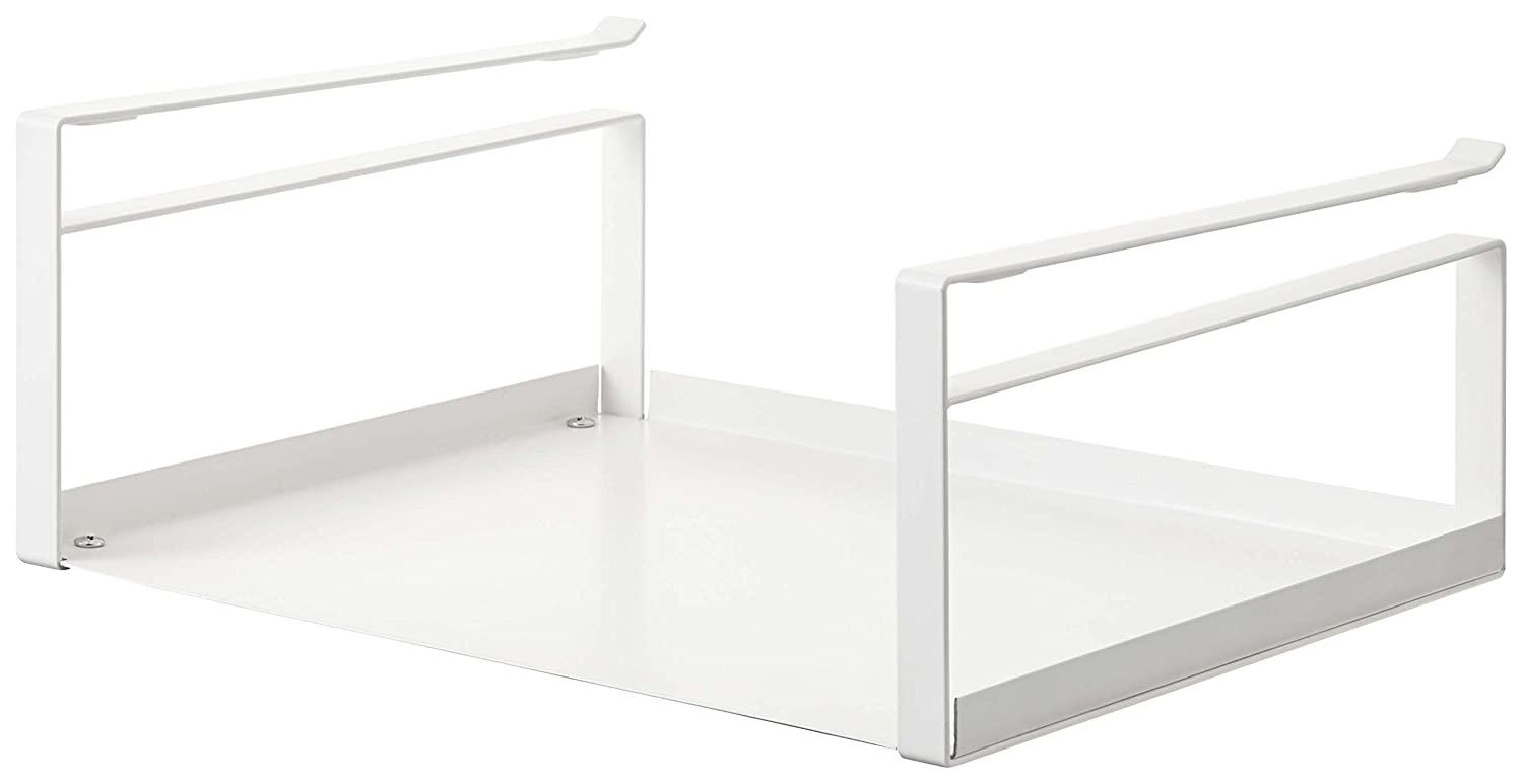 YAMAZAKI home Under Shelf Storage Rack - Plate Cabinet Organizer, White
