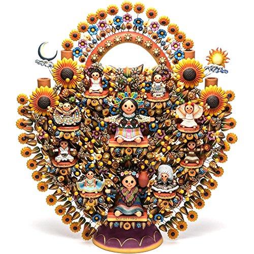 11' Sculpture - 11'' Arbol de Muñecas Alebrije Sculpture Mexican Folk Art
