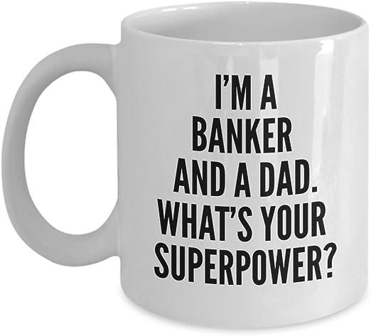 Amazon.com: Mejor banquero Papá taza de café – regalo ...