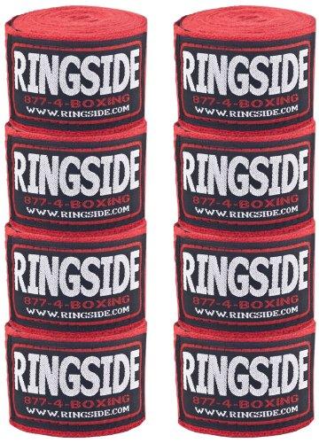 Ringsideコットン標準Boxing Handwrap (10個パック) レッド