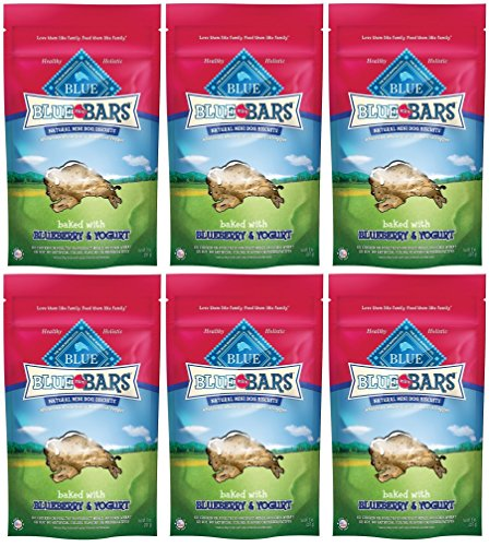 Blue Buffalo Mini Blue Bars Blueberry & Yogurt Dog Biscuits