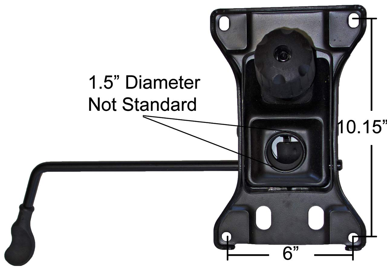 Big & Tall Chair Replacement Tilt Swivel Mechanism 6'' X 10.15'' Mounting Rated 500 lbs -SP610-BT by iChairParts