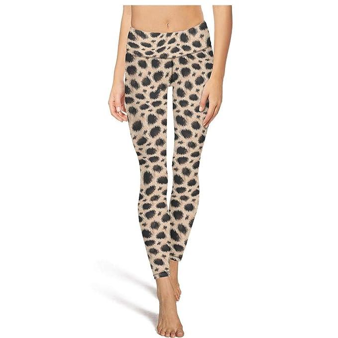 aef5fe726cd5 XIdan-die Womens Yoga Pants Yellow Leopard Print Workout Running Leggings  at Amazon Women's Clothing store: