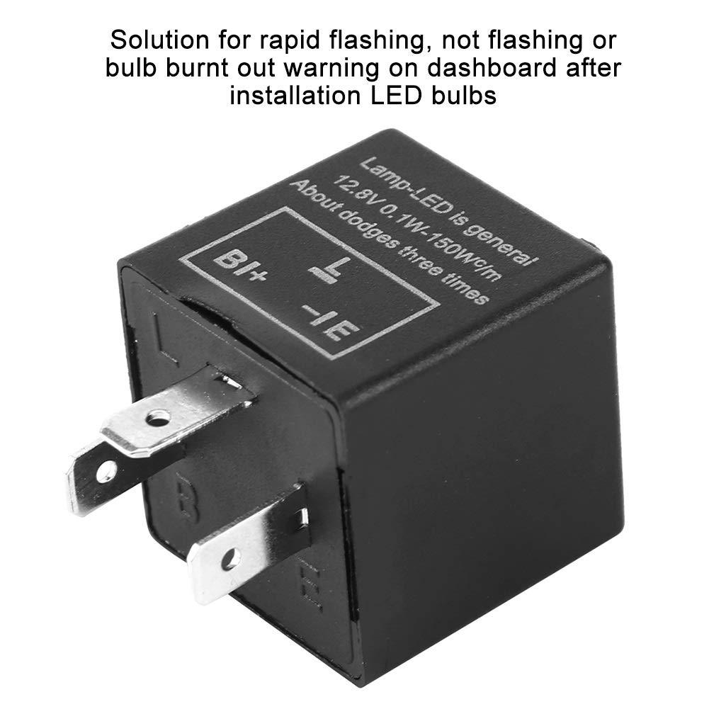 12V ABS auto universale del motociclo LED regolabile luce di girata del lampeggiatore del segnale Rel/è 3 Pin Flasher Relay
