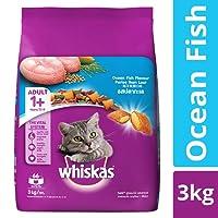 Whiskas Adult Dry Cat Food, Ocean Fish flavour – 3 kg Pack