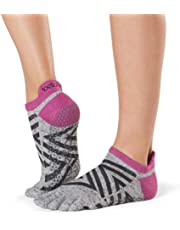 Toesox Women's Low Rise Full Grip Non-Slip For Ballet, Yoga, Pilates, Barre Toe Socks Calcetines, Mujer