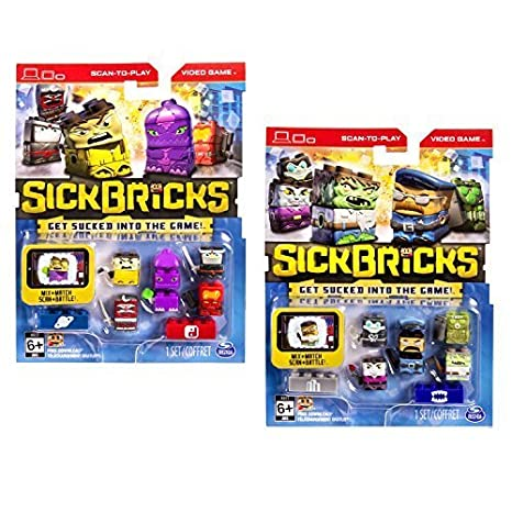 Amazon.com: Sick Bricks, 10 Character Pack Monsters vs. City ...