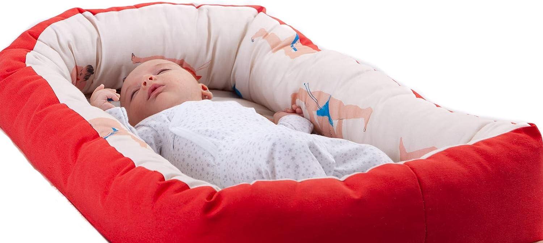Nido para bebes nest reductor protector cuna para cama desenfundable Edad 0 a 6 meses Cuna viaje port/átil Fabricado en Espa/ña Varios Modelos Tama/ño /único BUGS PARTY