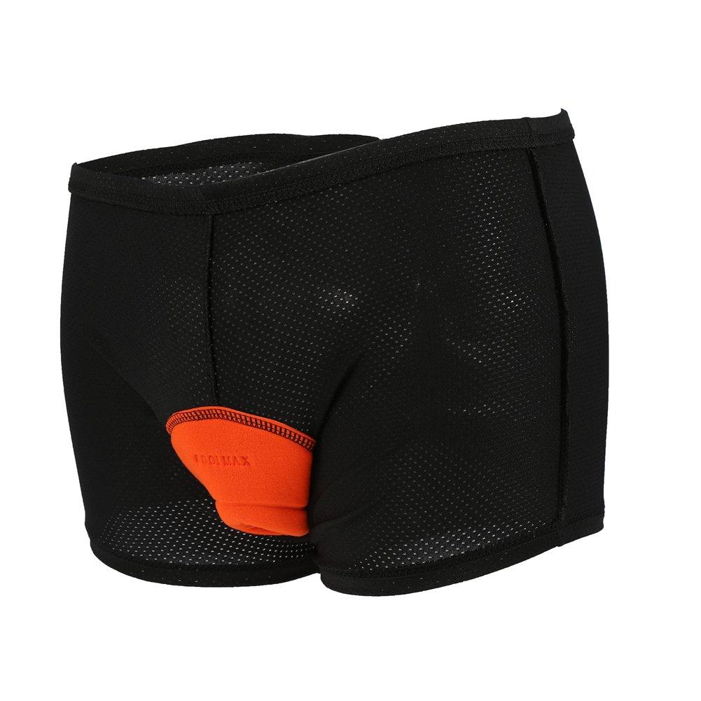 Pantaloncini da ciclismo da uomo pantaloncini da bicicletta traspiranti antiurto con imbottitura in spugna 3D