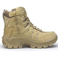 YMXYMM Botas Militares para Hombres Impermeables,Bota táctica Ligera con Cremallera Lateral,Zapato de Combate del…