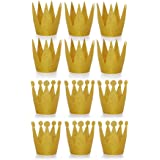 Amy Basic (12 Pcs Gold Birthday Crown Hats for Birthday , Party and Wedding Anniversary.