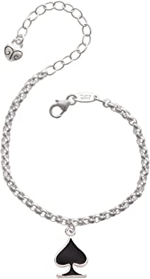 Spade Charm With Lobster Claw Clasp Charms for Bracelets and Necklaces