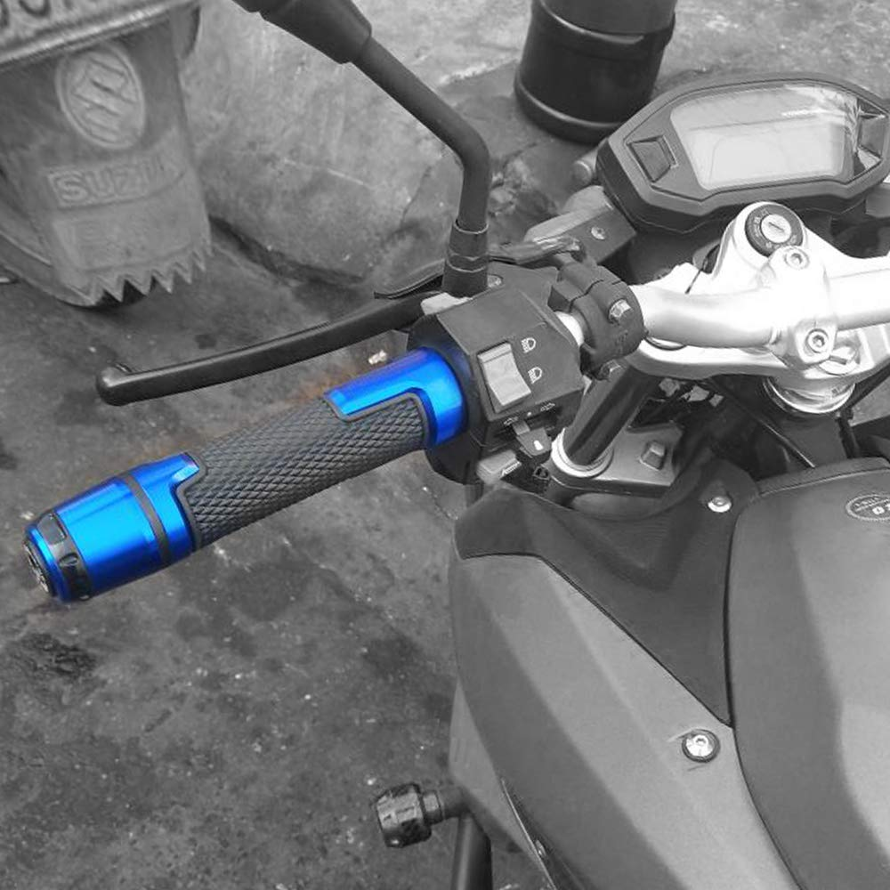 Pu/ños Acoples de Manillar Motocicleta Universal 7//8 22 mm Aluminio Para Yamaha TMAX 530 500 TMAX530 SX DX 2014 2015 2016 2017 2018