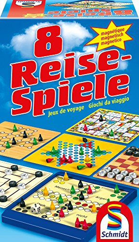 Schmidt Spiele 49102 8 Reise-Spiele, magnetisch