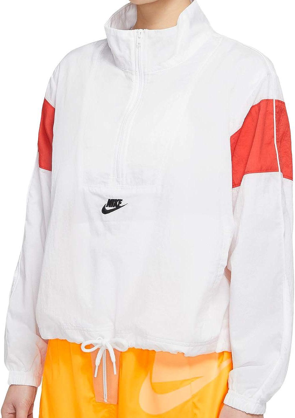 Amplia gama Decisión Precipicio  Nike Women's Sportswear Woven Heritage Wind Jacket Cj2361-100 at Amazon  Women's Clothing store
