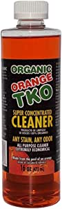 Organic Orange TKO Super Concentrated (16oz) Multi - Purpose Citrus Cleaner, Degreaser, Deodorizer, Stain Remover, Pet Safe, Non Toxic