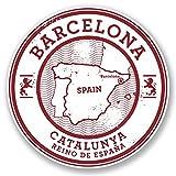 2 x Barcelona Catalunya Spain Vinyl Stickers