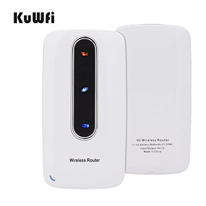 Kuwfi smart moblie portable 3000mah power bank 3g wifi router kuwfi smart moblie portable 3000mah power bank 3g wifi router wireless router wifi repeater sim card with rj45 for iphone samsung tablet support gsm wcdma greentooth Images