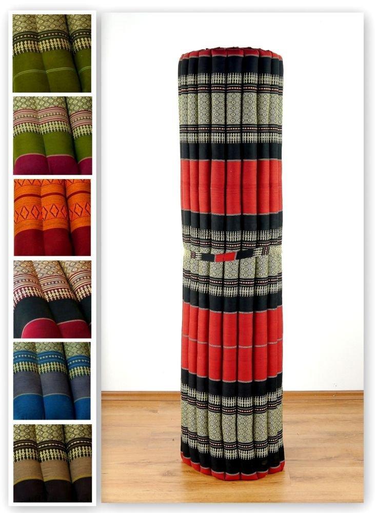 Asia Wohnstudio Kapok Rollmatte der Marke, 200cm (Länge) x 145cm (Breite) x 4,5cm (Höhe), Thailändische Rollmatte, Entspannungsmatte, Yogamatte, Pilates, Rollmatratze