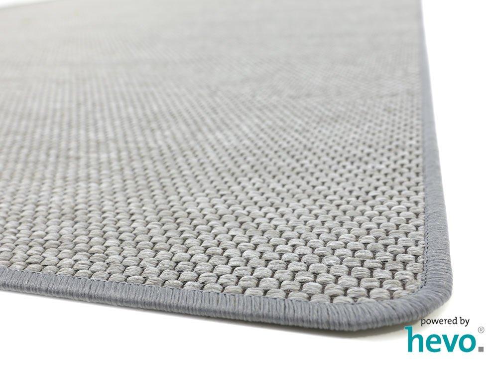 HEVO Benny grau D/änisches Flachgewebe Teppich Kinderteppich Spielteppich 067x400 cm
