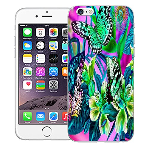 "Mobile Case Mate iPhone 6S Plus 5.5"" Silicone Coque couverture case cover Pare-chocs + STYLET - In The Garden pattern (SILICON)"