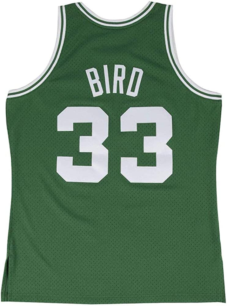 G-III Sports Mens Celtics #33 Larry Bird 1985-86 Hardwood Classics Swingman Throwback Green Jersey