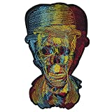 28x18 cm/11x7 inches Appliques Patches Iron On Patterns Print Embroidery Sewing Craft Supplies Machines Designs Logo Cloth Hat Bag DIY Decor (Color Skull)