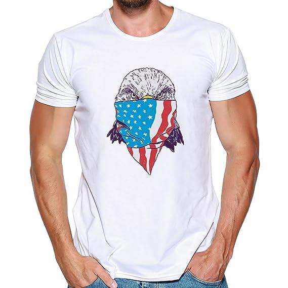 Cinnamou Camiseta con Estampado de Moda para Hombre,Pullover con Estampado de Coche para Hombre