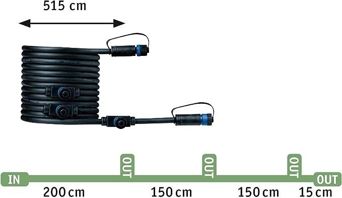 3er-Set 3x5,1 Watt IP65 Strahlwasserschutz Anthrazit Gartenbeleuchtung Metall Warmwei/ß 3000 K 15.3 W Paulmann 94286 Plug /& Shine LED Au/ßenleuchte Spot Classic Starterset incl