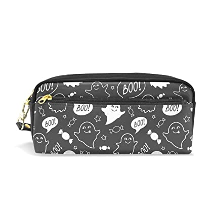 e9647c25fe Image Unavailable. Image not available for. Color  Halloween Cute Ghost Boo  Pencil Bag ...