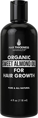 Organic Sweet Almond Oil For Hair Growth by Hair Thickness Maximizer.