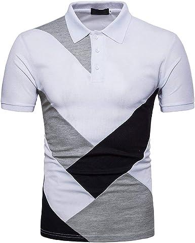 Camisas Polo Camisetas Hombre Slim Fit Encanto Color Algodón Ropa Verano Casual Manga Corta Botón Cuello Deportivo Al Aire Libre Básico: Amazon.es: Ropa y accesorios