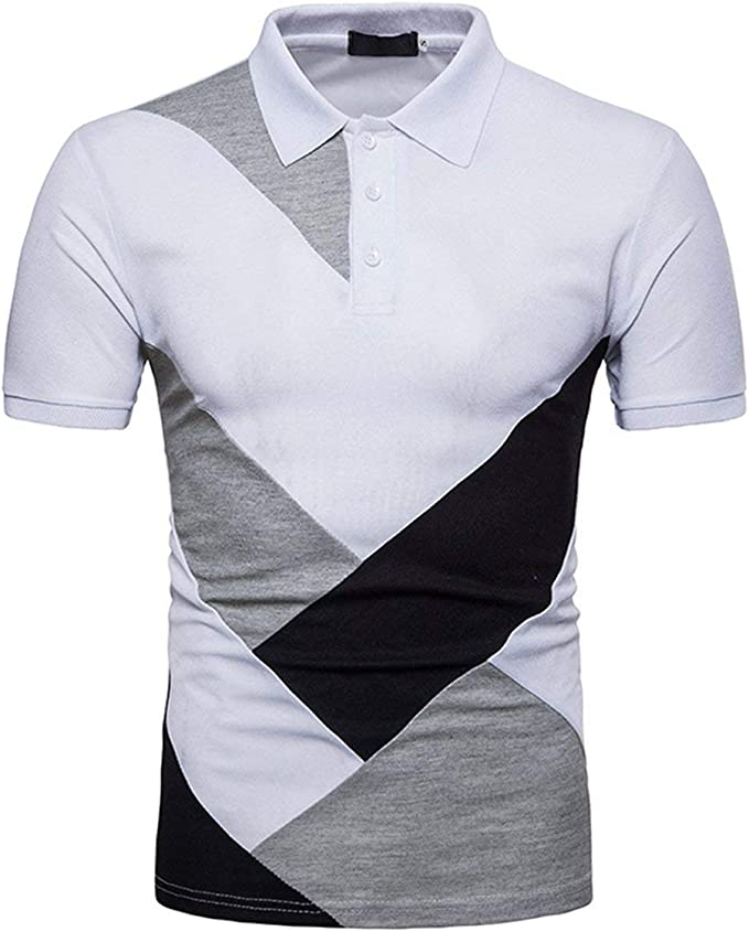 Camisas Polo Camisetas Hombre Slim Fit Encanto Color Algodón Ropa ...