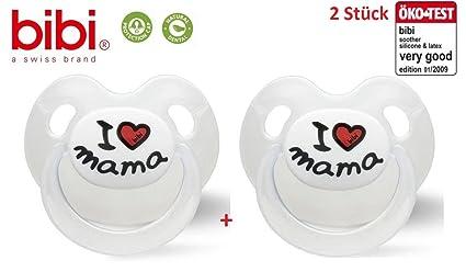 Bibi Swiss I love Mama No. 112351 - 2 x Chupete anatómica ...