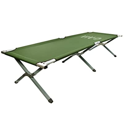 VIVO Green Camping Cot, Fold up Bed, Carrying Bag (COT-V01): Sports & Outdoors