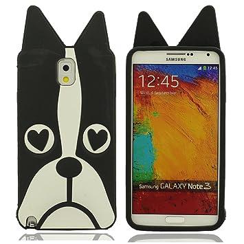 Desconocido Samsung Galaxy Note 3 III N9000 Funda Carcasa Suave Protector Case Silicona Gel Dibujos Animados Animal Tipo (Grande Perro) Case Bumper