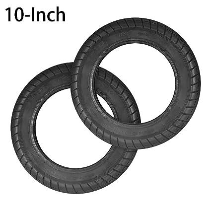 OurLeeme Neumático eléctrico de 10 Pulgadas para Scooter, llanta neumática de reemplazo sólido antipincheta Delantero/Trasero para neumático para ...