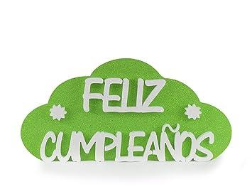 Feliz Cumpleaños Verde 54cmx26cm | Pack 2 Unidades Nube ...