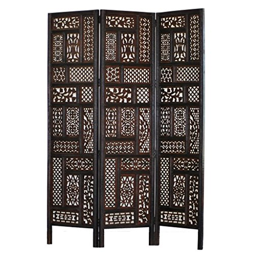Home & More 100447 Hemmingway 3 Panel Screen by Home & More
