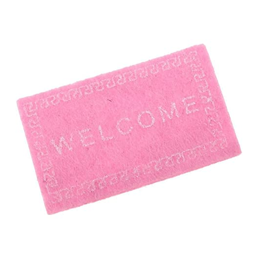 1:12 Dollhouse Miniature Door Mat Rug With Welcome Lettering For Home Garden #