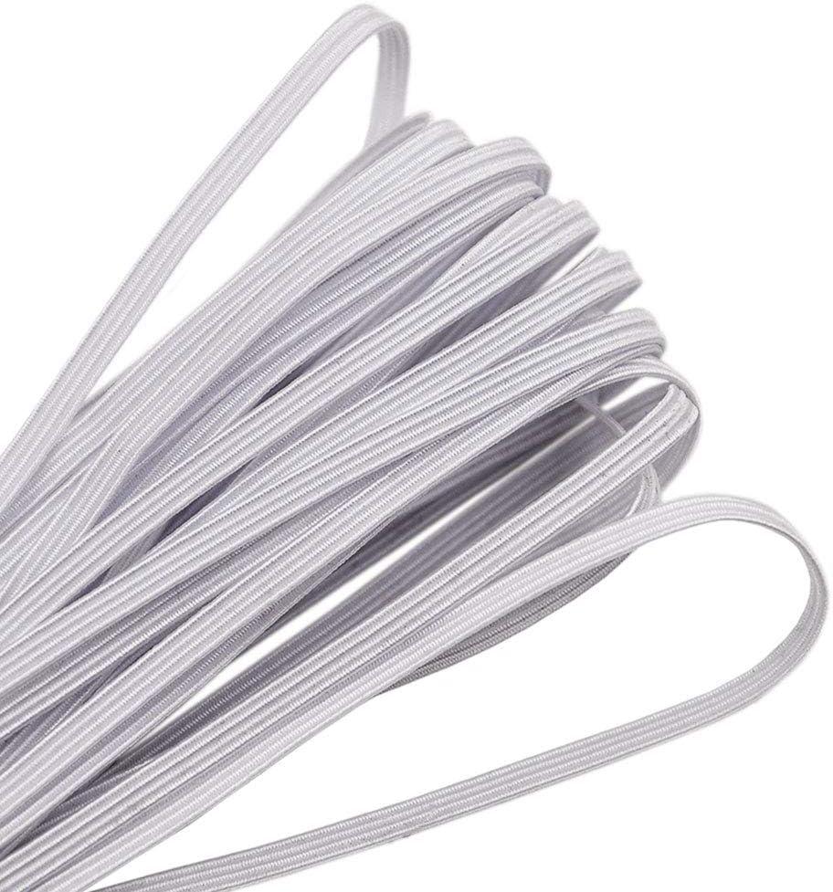 Elastic Band,1//4 Inch Width 10 Yards 6mm Flat Elastic Bands for Sewing Crafts DIY,Braided Elastic Cord,Elastic Rope,Heavy Stretch Knit Elastic Spool,Black