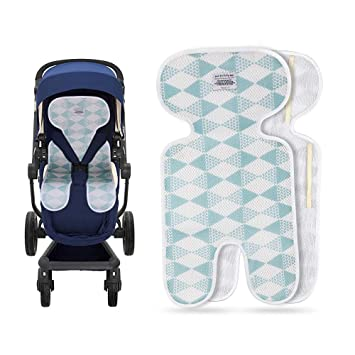 Luchild Colchoneta Silla Paseo Universal Colchoneta para Cochecito y Carro Bebe Transpirable Cojín Cómodo Respirable del Niño-Azul