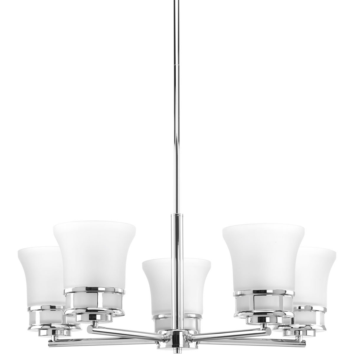 Progress Lighting P4613-15 Traditional//Casual 5-100W Med Chandelier Polished Chrome
